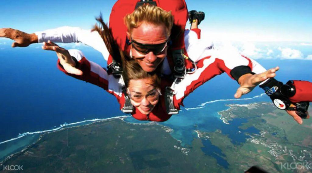 skydive in mauritius