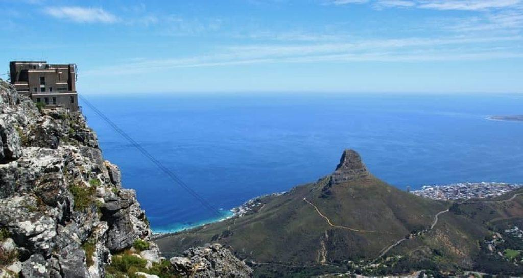 view from atop Table Mountain