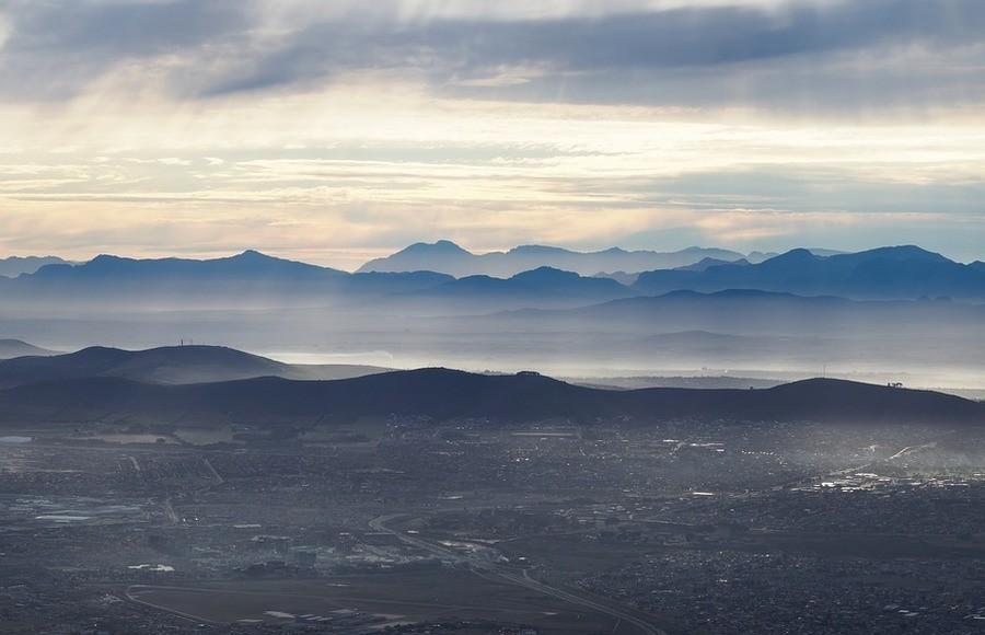 Misty Cape Town landscape