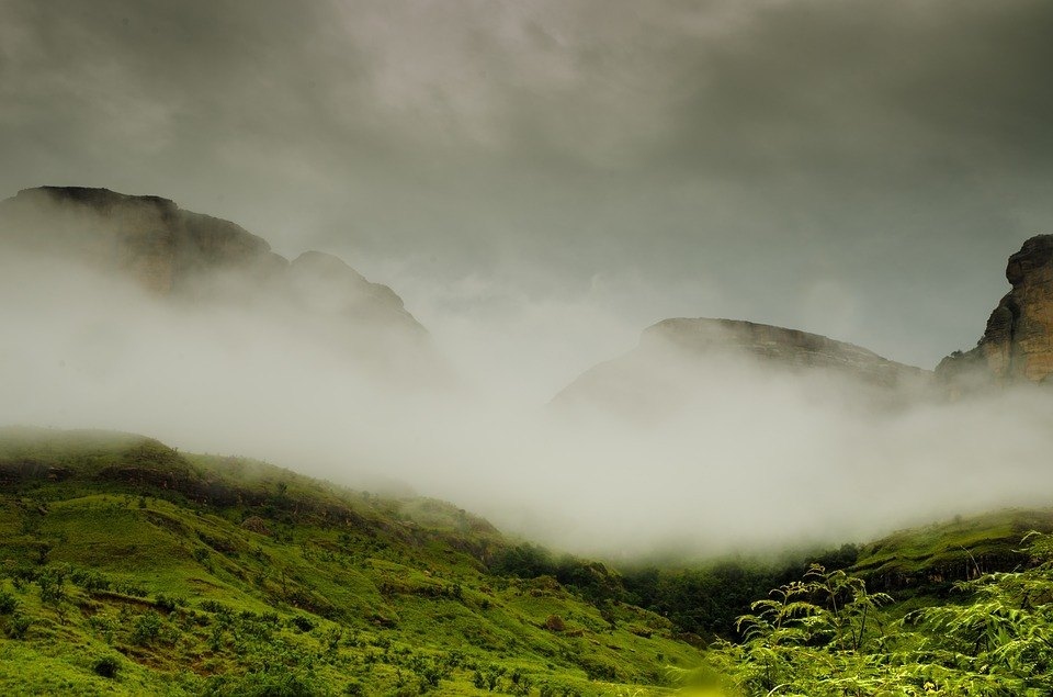 Clouds over the Drakensberg