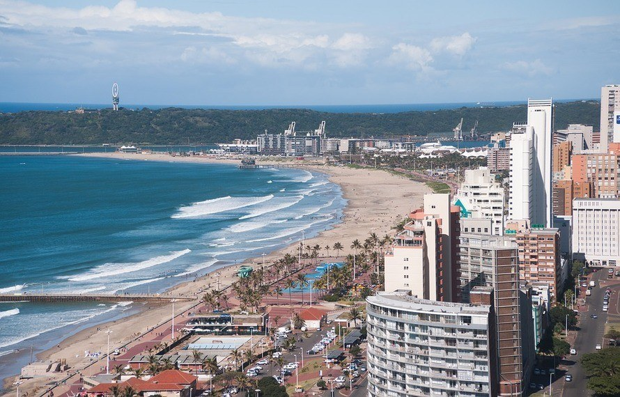 Durban's Golden Mile beachfront