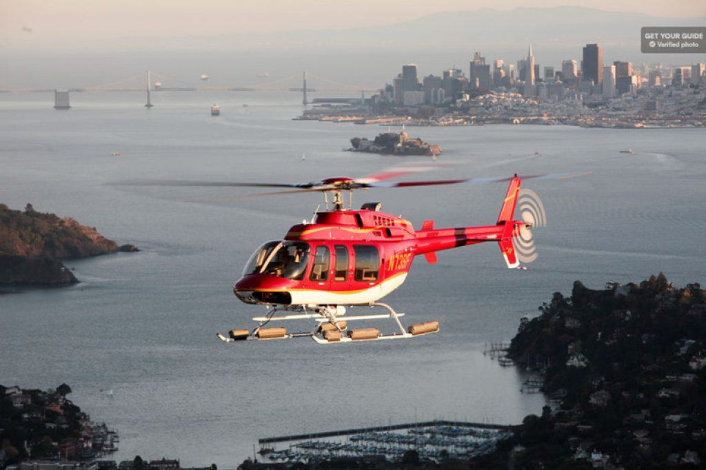 Helicopter in San Francisco