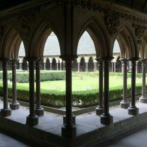 Mont-Saint-Michel abbey interior