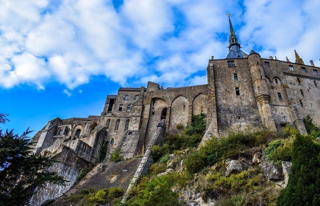 Mont-Saint-Michel on cliff