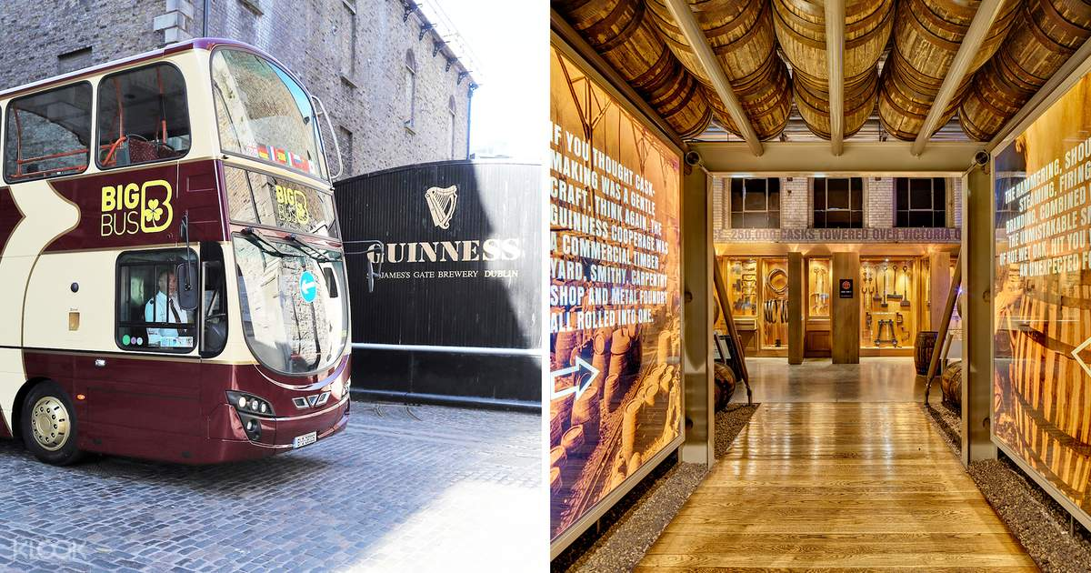 Dublin Big Bus Hop-On Hop-Off Tour and Guinness Storehouse Fast Track Ticket