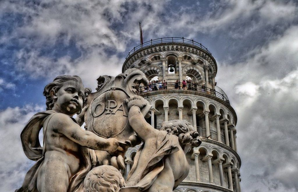 Leaning Tower statue