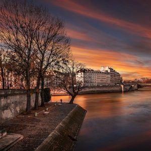 Seine at sunset