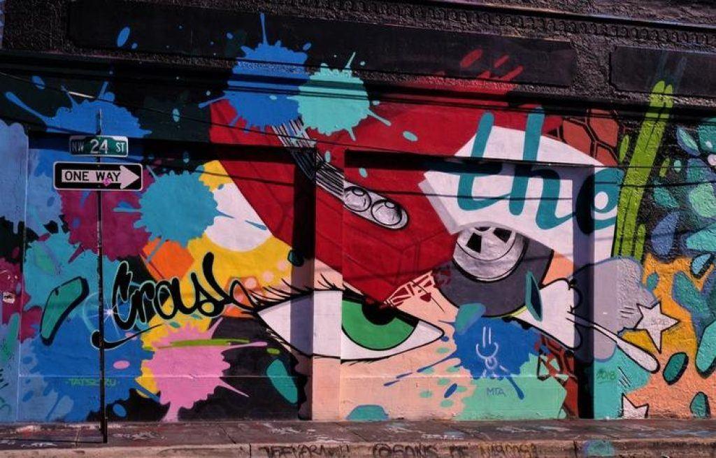 Wynwood Walls eye mural