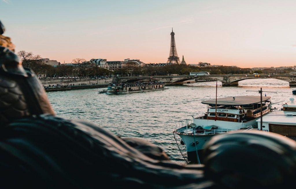 Seine River at sunset