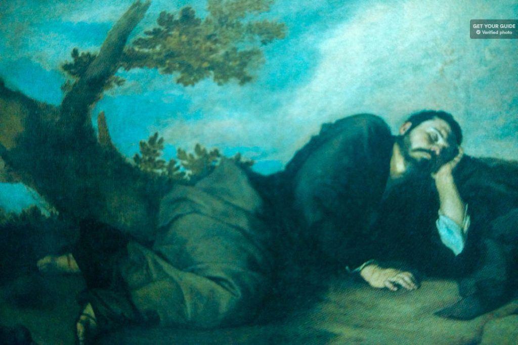 painting in the prado museum, madrid