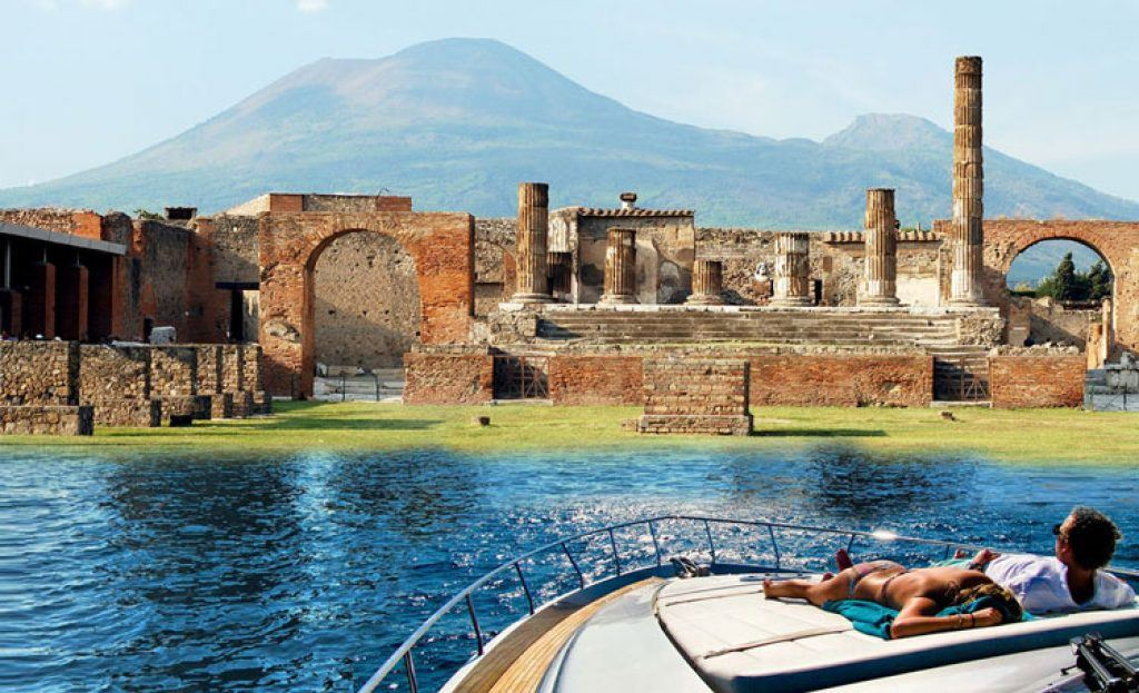 boat ride to pompeii ruins
