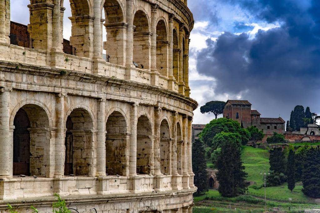 Alongside the Colosseum