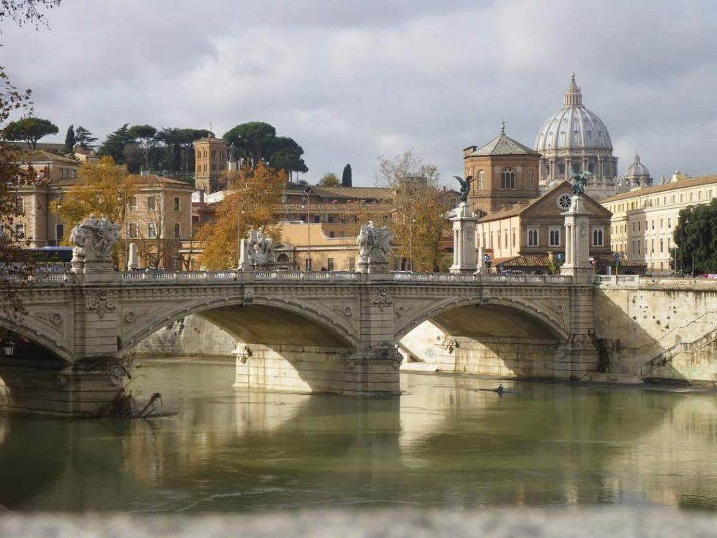 St Peter's Basilica from the river