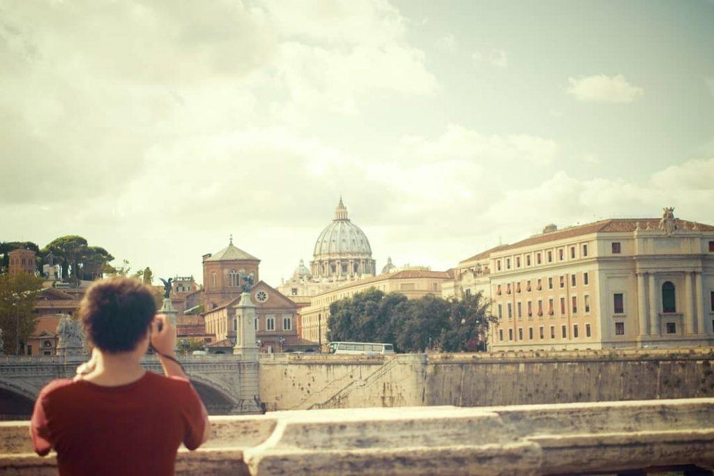 St Peter's Basilica from a distance