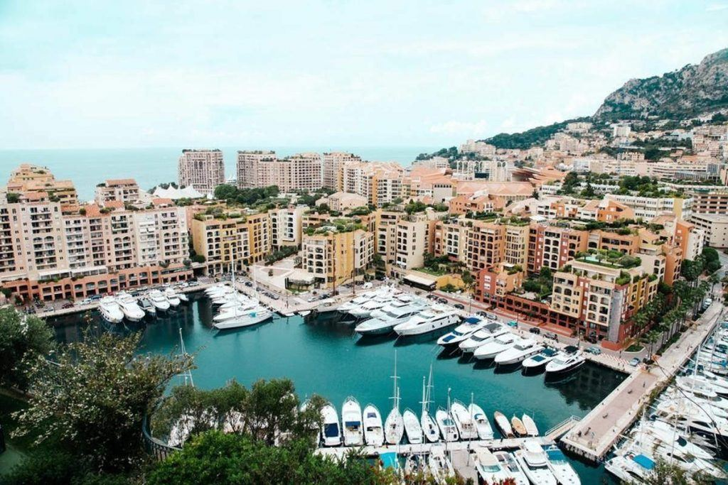 view of french riviera