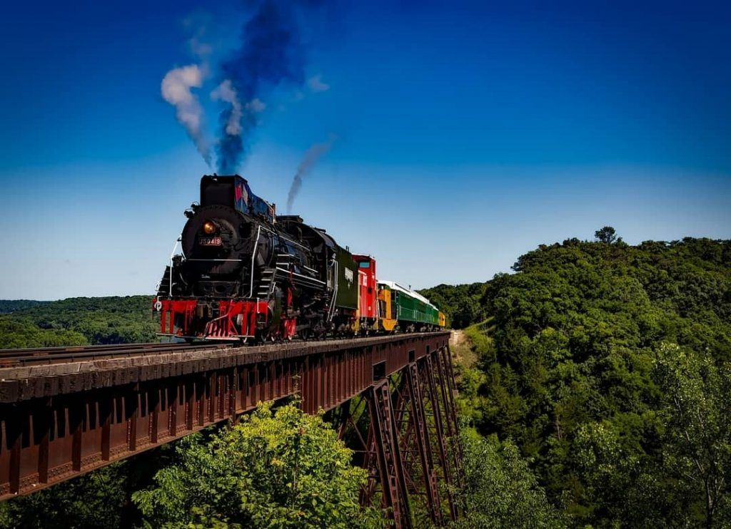 Puffing Billy on the railway