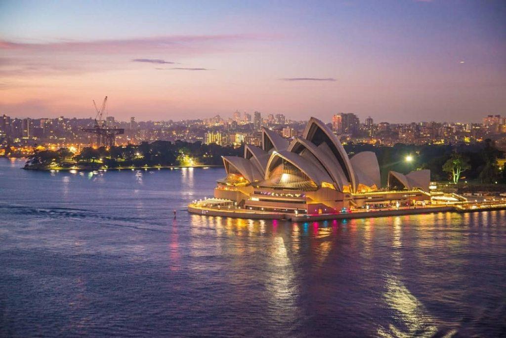 Sunset at Sydney Harbor