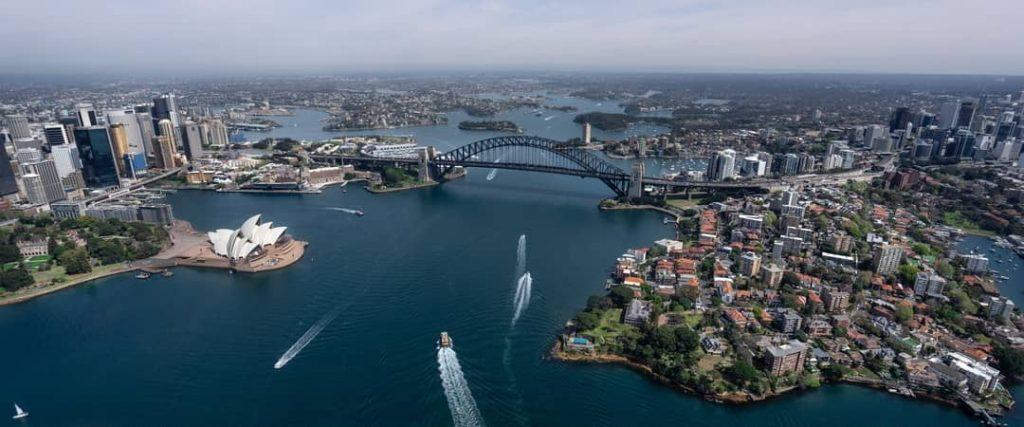 View of Sydney Harbor from above