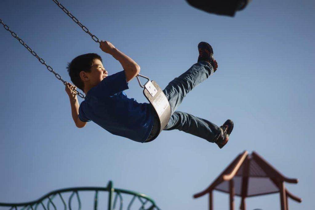 Child Swinging