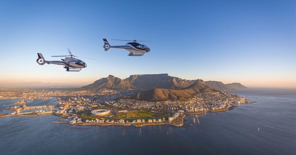 Cape Town: 2 Oceans Scenic Helicopter Flight