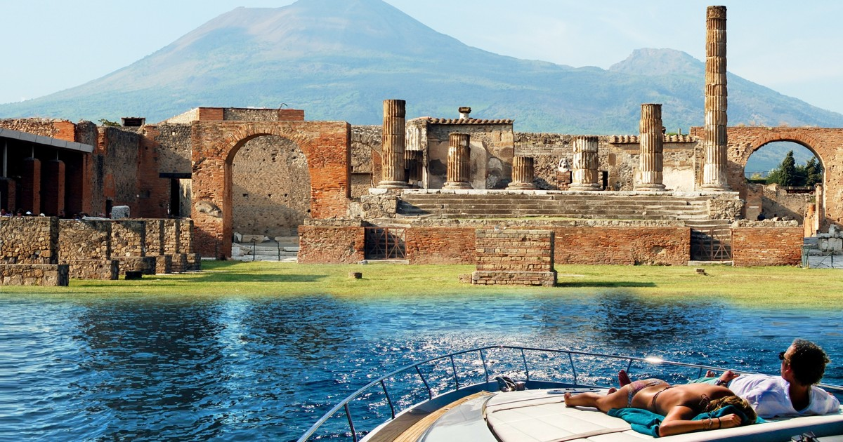 Pompeii & Vesuvius: Guided-Tour by Boat from Sorrento