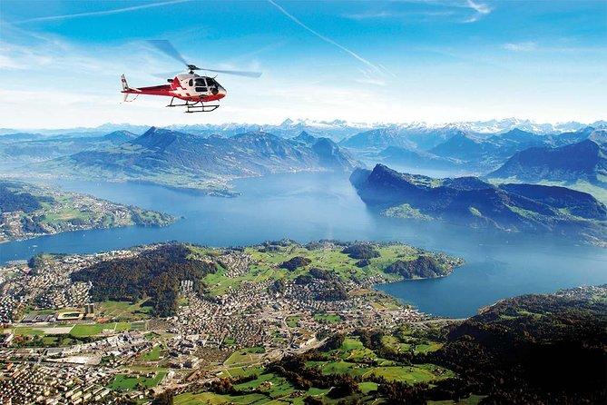 30 Minutes scenic Rigi & Pilatus helicopter flight from Lucerne