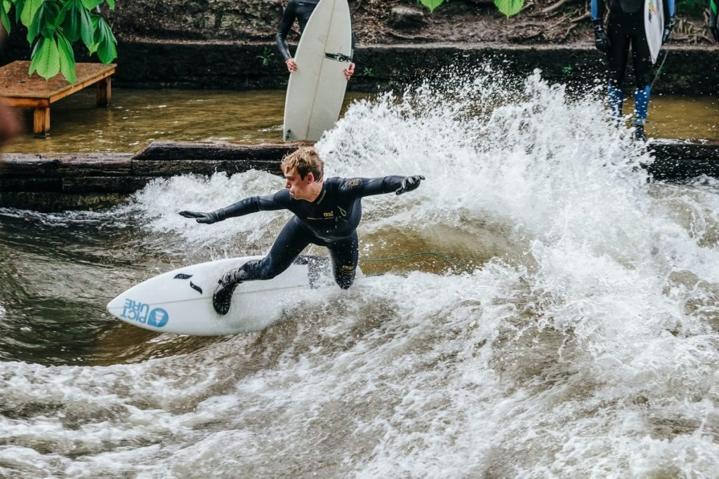 Munich Germany River Surfing