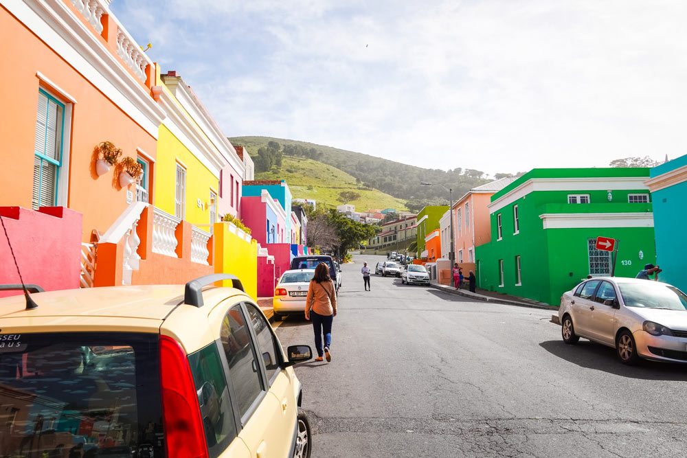 Colourful houses on Wale St in Bo-Kaap