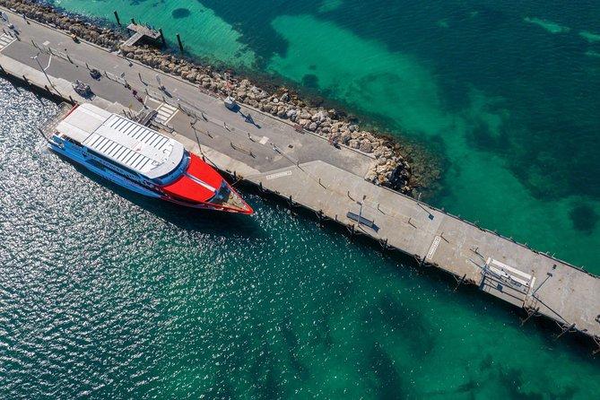 Overhead shot of ferry on Rottnest Island