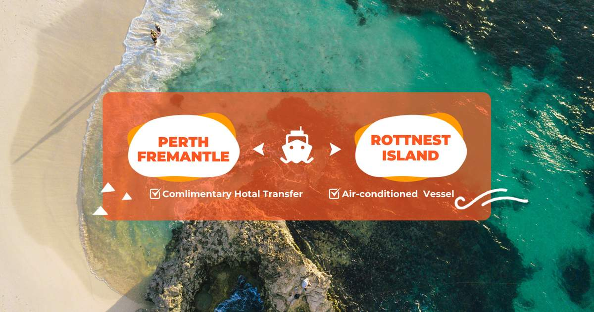 Rottnest Island Return Ferry Ticket from Perth or Fremantle with Optional Bike & Snorkel Gear Hire