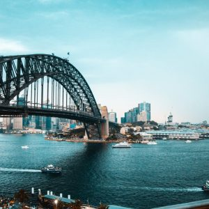 sydney arieal habour view