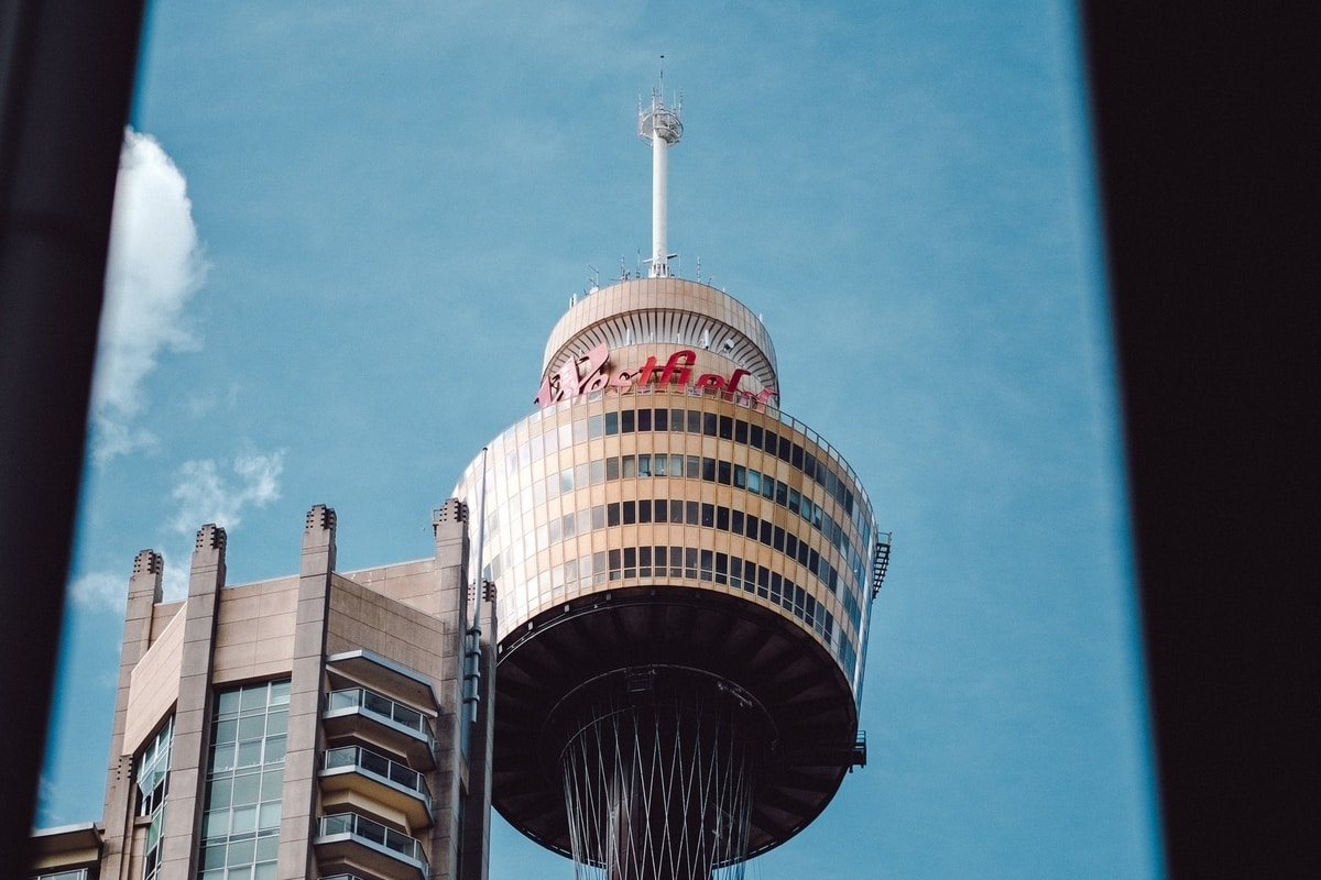 sydney tower in the blue sky