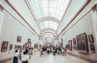 visitors at the Louvre Museum in Paris