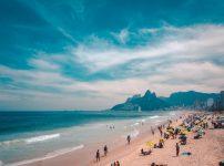 People relaxing on Rio de Janeiro beach
