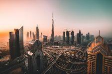 Downtown Dubai from the air
