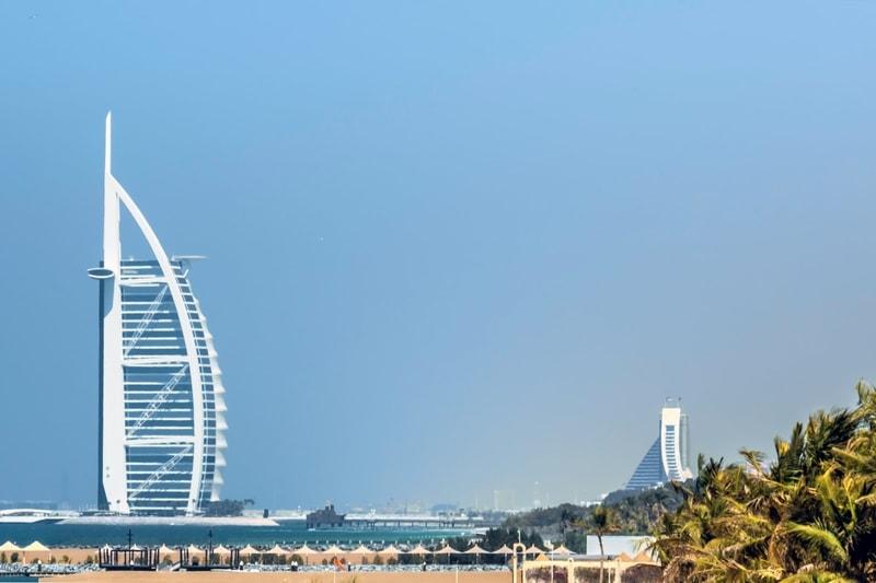 Dubai beach Jumeirah street
