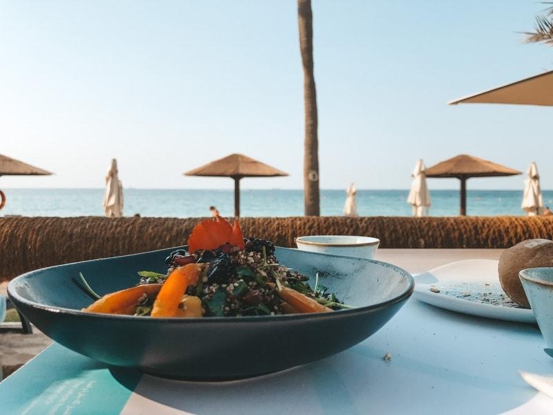 Food at Dubai beach resort