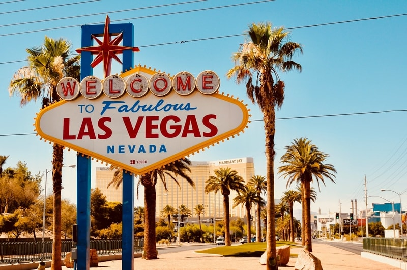 The Welcome sign coming into Las Vegas Nevada
