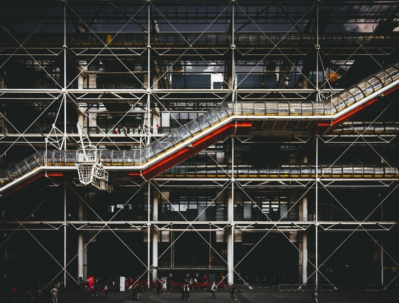 The Centre Pompidou Museum Exterior in Paris