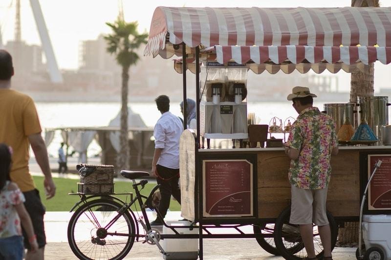 Refreshments at Dubai Marina, United Arab Emirates