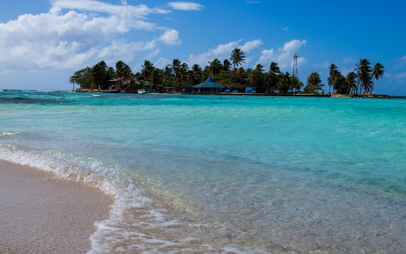 View of San Andres Resort from across the beach