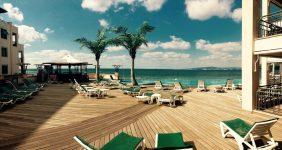 Pool deck at a Holiday Resort