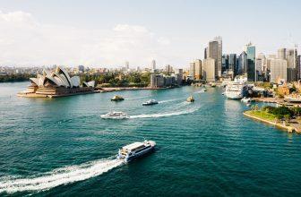 Sydney Opera House and the city of Sydney, Australia