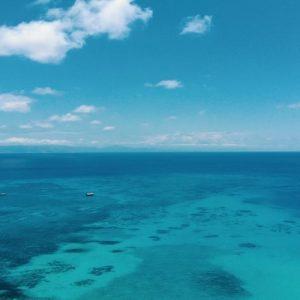Aerial view of sea in Australia