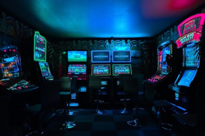 Inside and arcade in Miami Florida