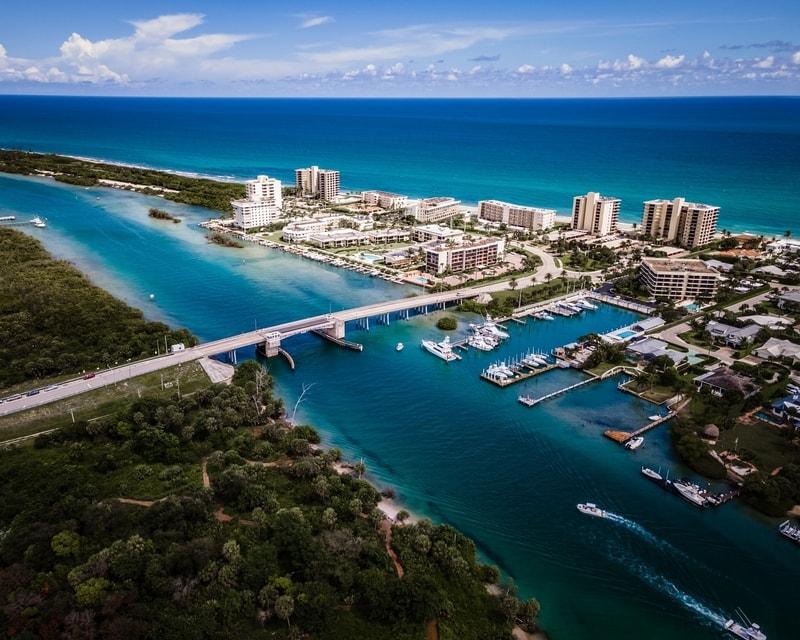 View of Jupiter city in Florida