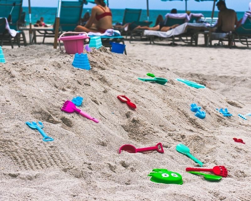 Kids toys in a beach in Miami