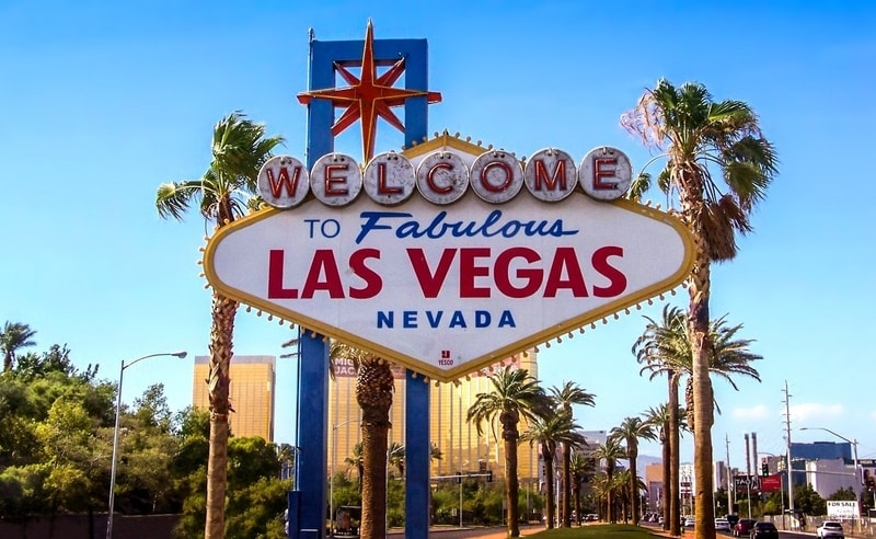 Welcome sign of Las Vegas