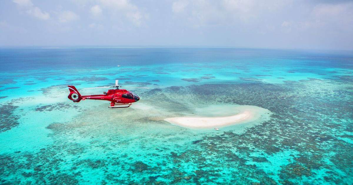 Moore Reef Scenic Helicopter Ride and Cruise from Cairns