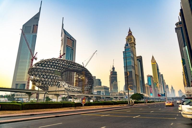 Sheikh Zayd road in Dubai